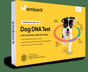 Embark dog DNA test box