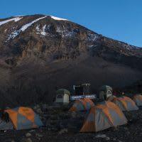 A camp site on Mt. Kilimanjaro.