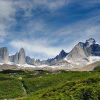 A mountain range in Patagonia