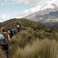 Summit five volcanoes of Ecuador