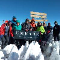 An Embark Exploration group on Mt. Kilimanjaro
