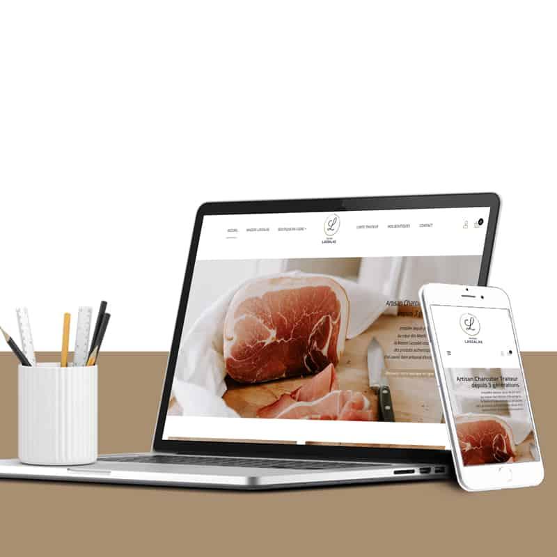 Création d'un site internet clermont-ferrand // vente en ligne pour la Maison Lassalas