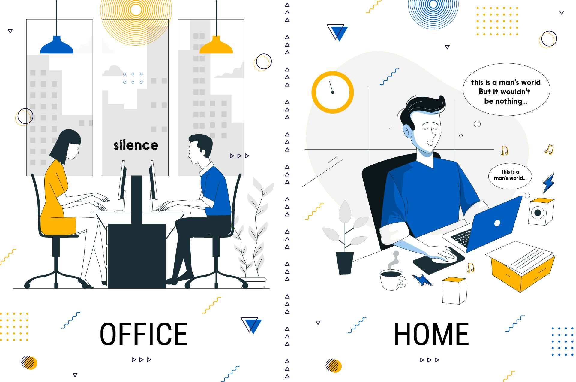 in-office work vs work from home