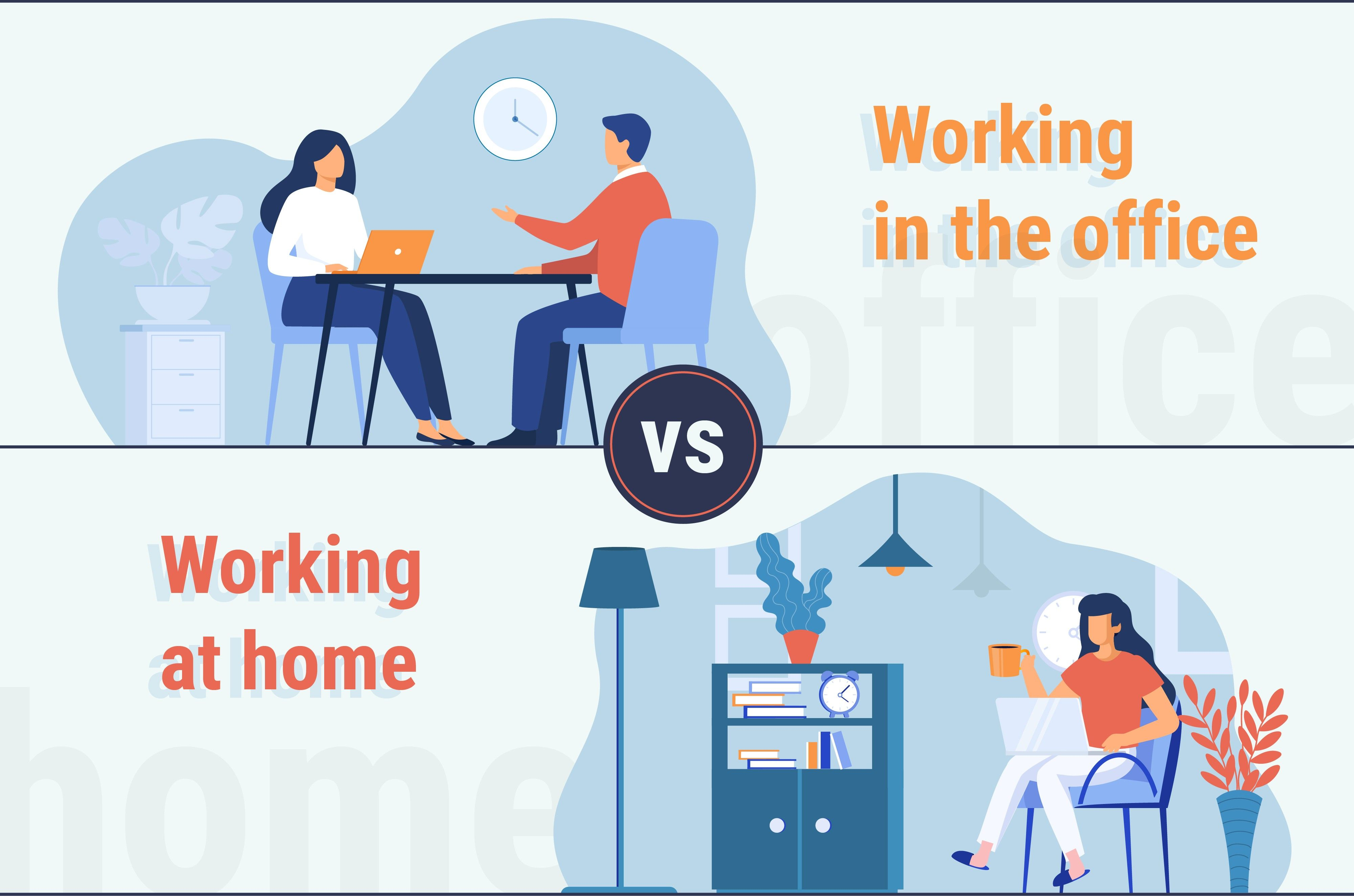 office work vs work from home