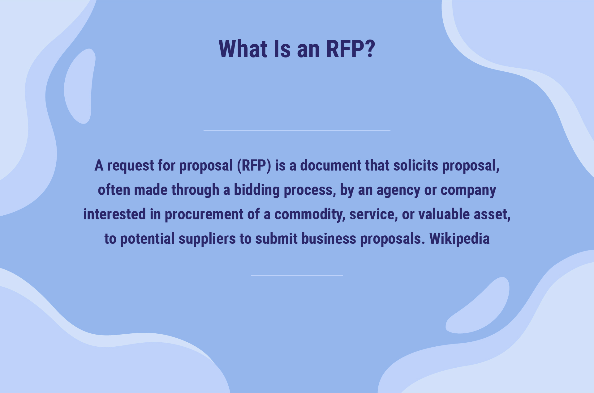 wikipedia definition of RFP
