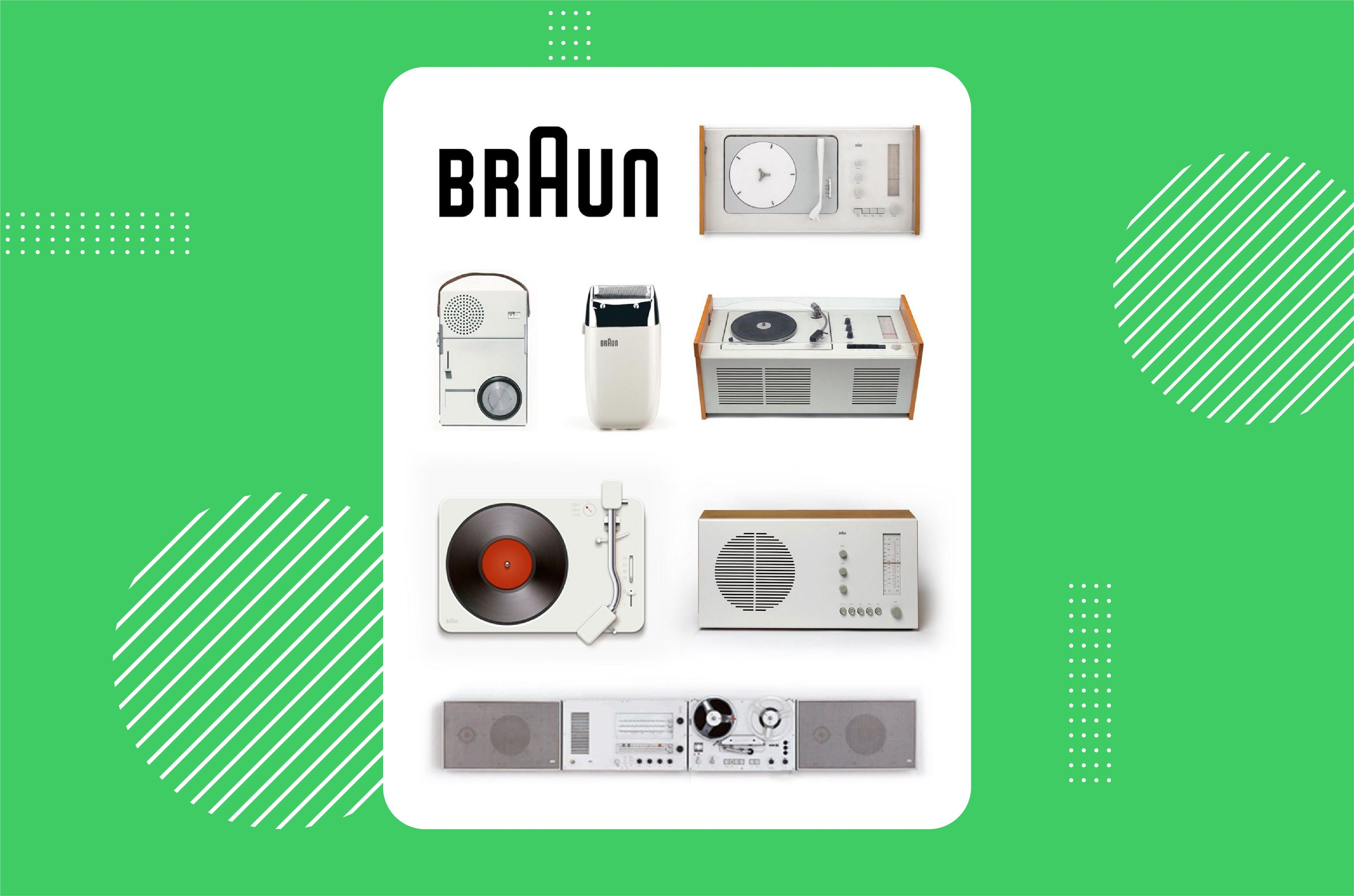 A family of Braun products from the article on 11 life lessons from influential product designer Dieter Rams