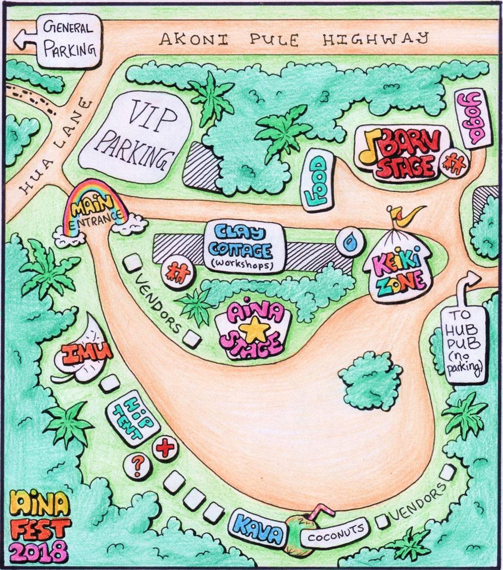 2018 Aina Fest Map