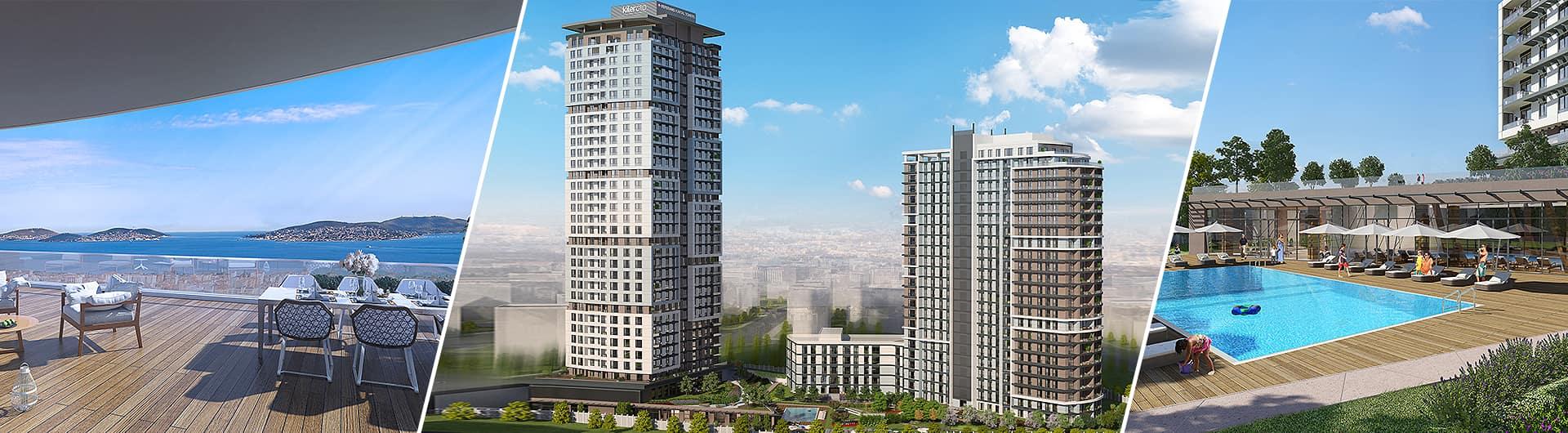 Kiler GYO - Biskon Yapı - İller Bankası Referans Kartal Towers Konut Projesi arkaplan