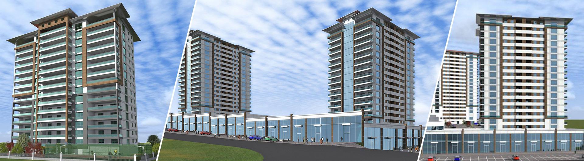 Üçgen Mimarlık İnşaat Meydan Plaza Konut Projesi arkaplan