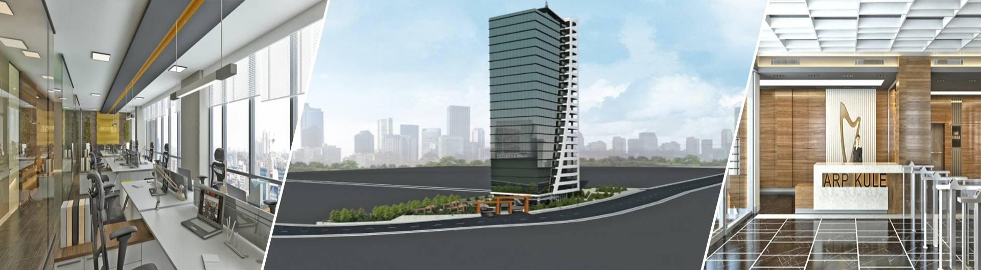 Gözüm İnşaat Arp Kule Ofis Projesi arkaplan