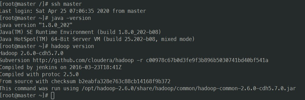 ssh-java-hadoop-test