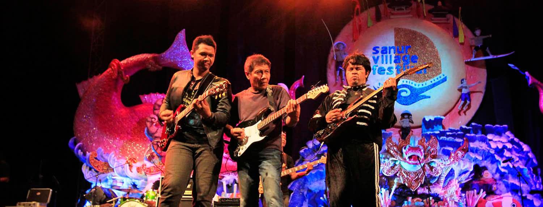 Musikprogramm in Sanur Village Festival im August, Indonesien