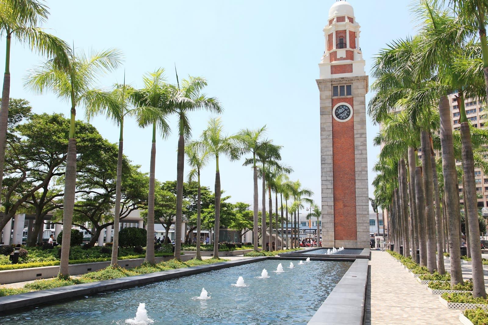 The historic clock tower in Tsim Sha Tsui designed by English architect Arthur Benison Hubback during World War I.