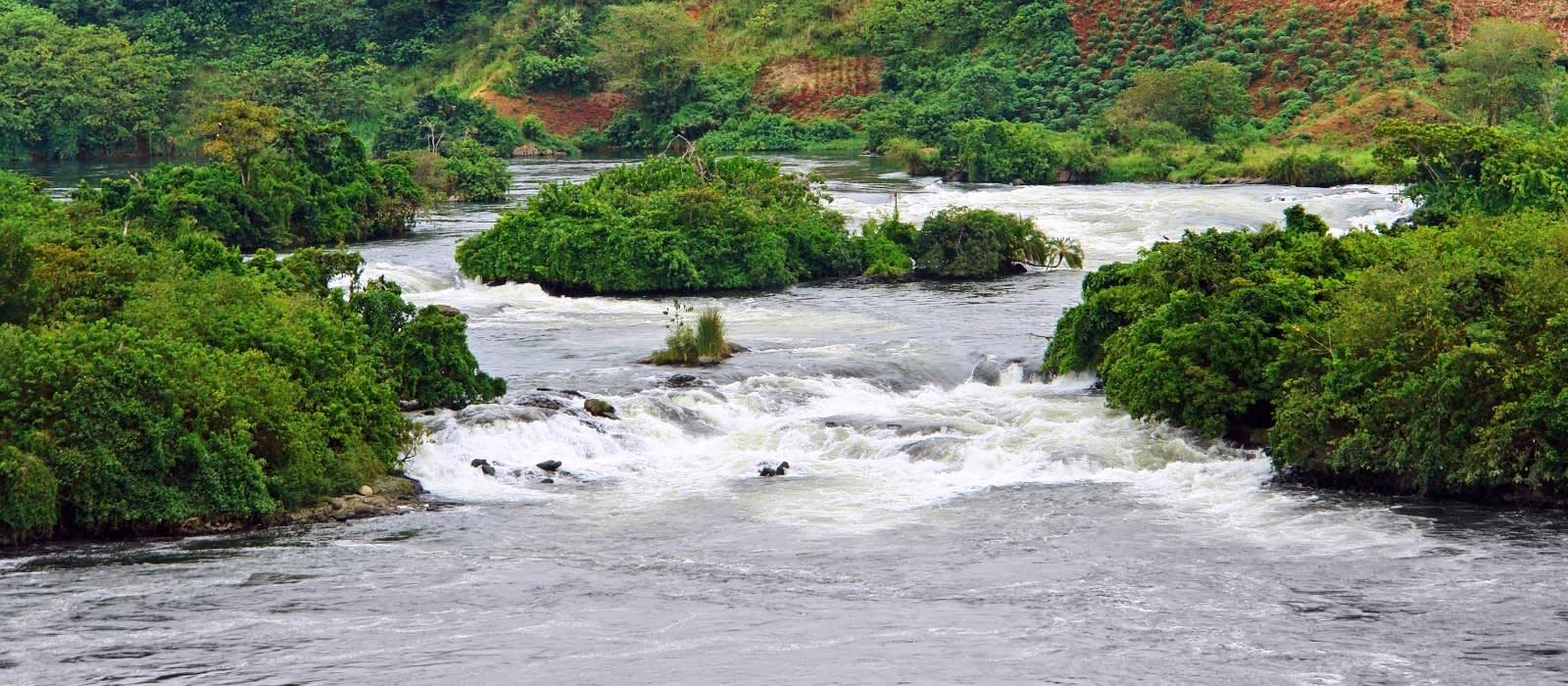 Reißende Strömung in Jinja