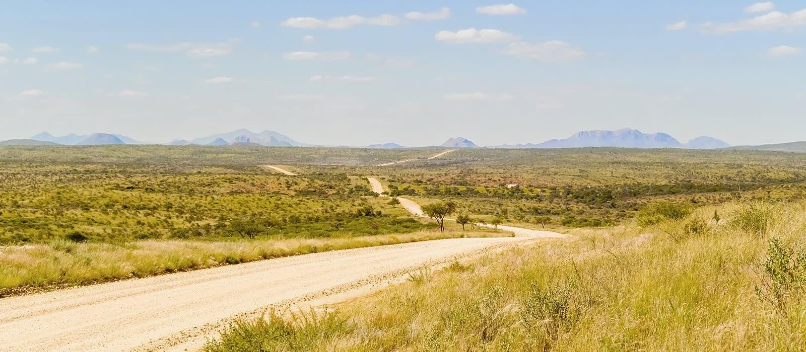Staubiger Highway in Windhoek, Namibia
