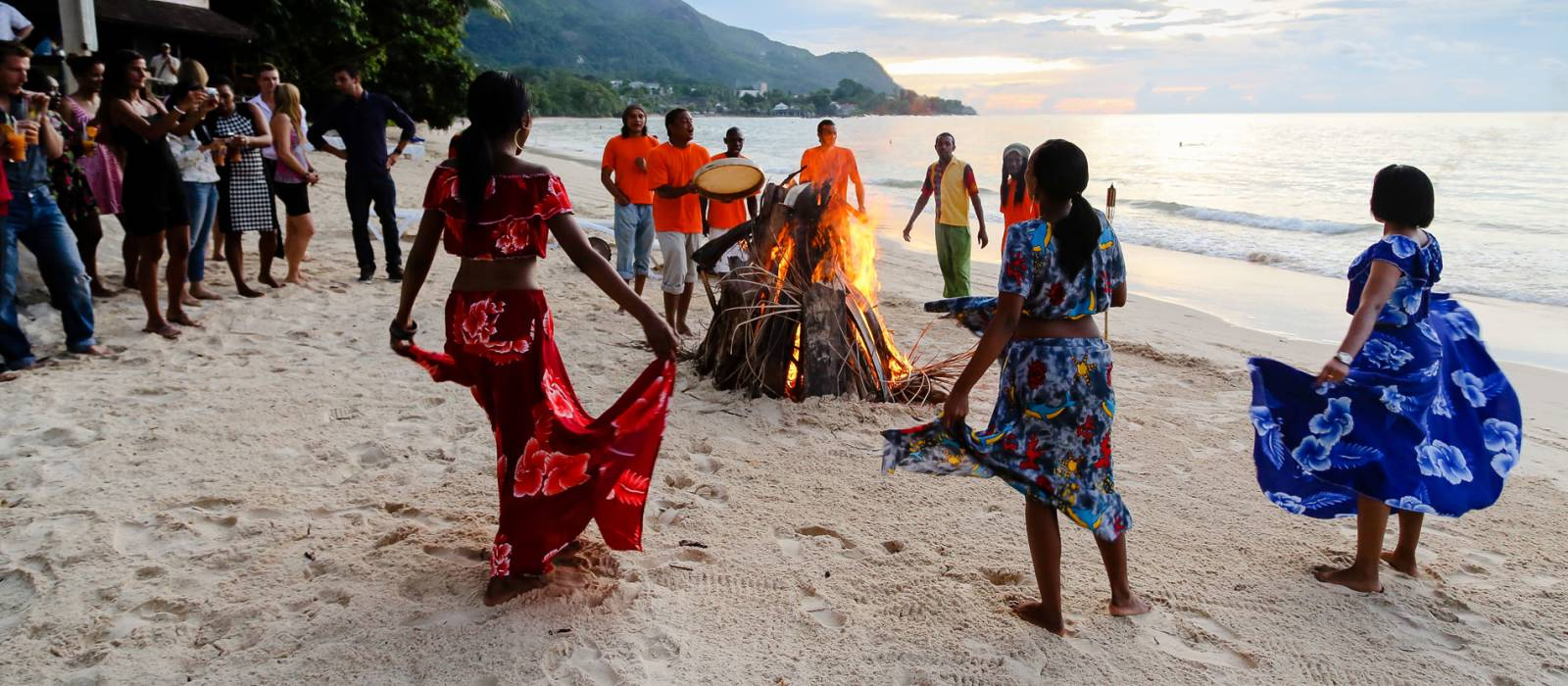 Beachside revelers in Mahe island, Seychelles - Seychelles Travel Guide - culture of Seychelles