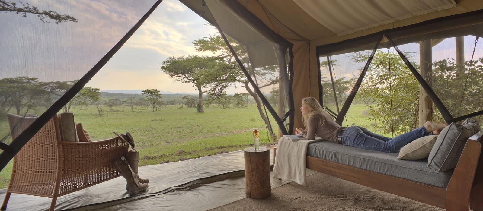 Kenya Tours - Naboisho Camp Masai Mara Guest bedroom tent Interior