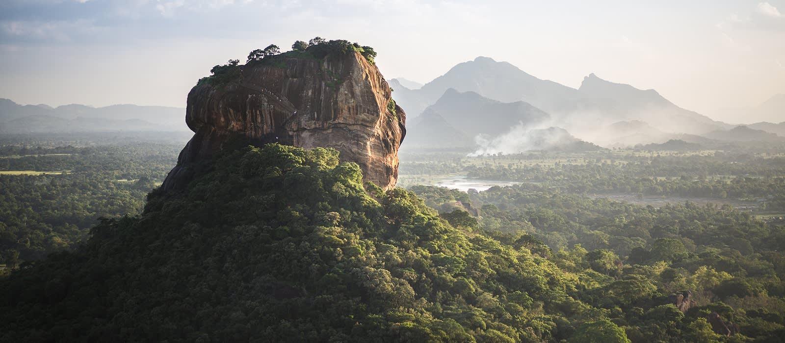 Sigiriya Lion Rock fortress and landscape in Sri Lanka. - Ideal for winter travel