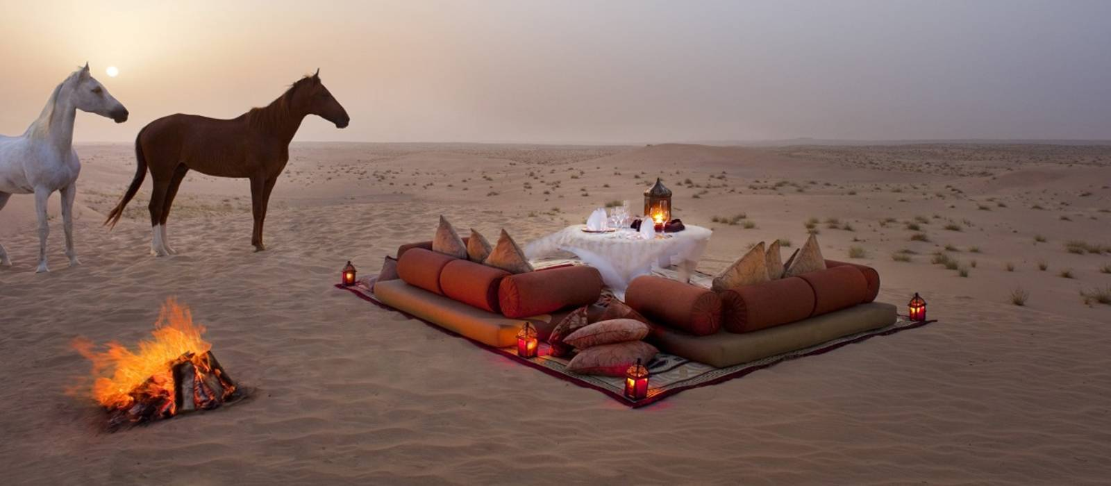 Abendessen in der Wüste, Dubai