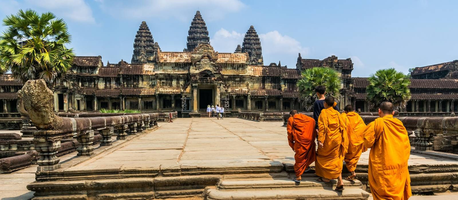 Amazing view of Angkor Wat is a temple complex in Cambodia and the largest religious monument in the world - history of Cambodia