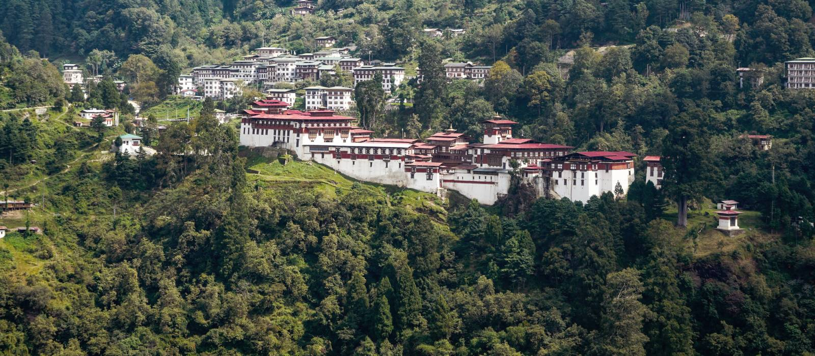Central Bhutan, the Trongsa Dzong, the biggest forteress in Bhutan, Asia