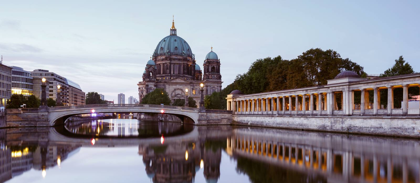Berlin Cathedral By River Against Sky - Is Germany safe