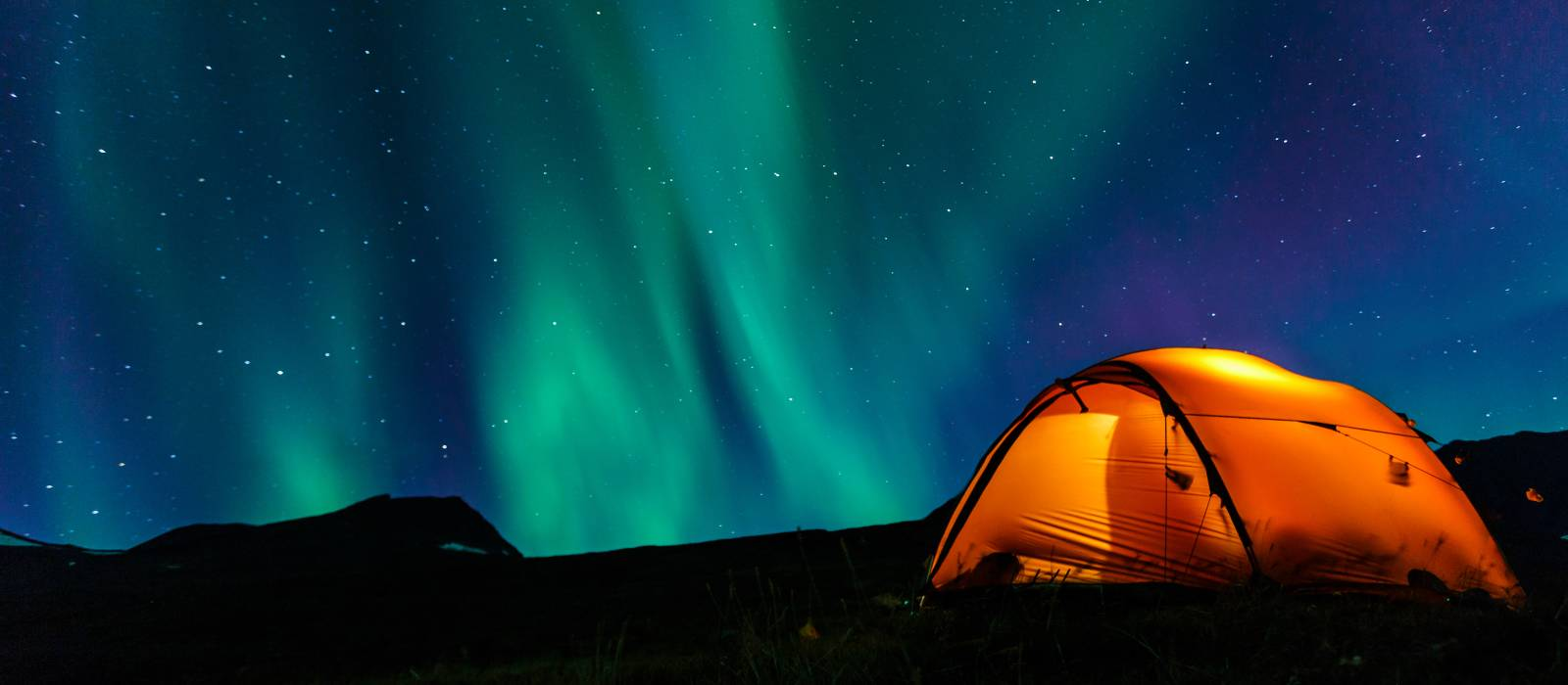Tent and northern lights