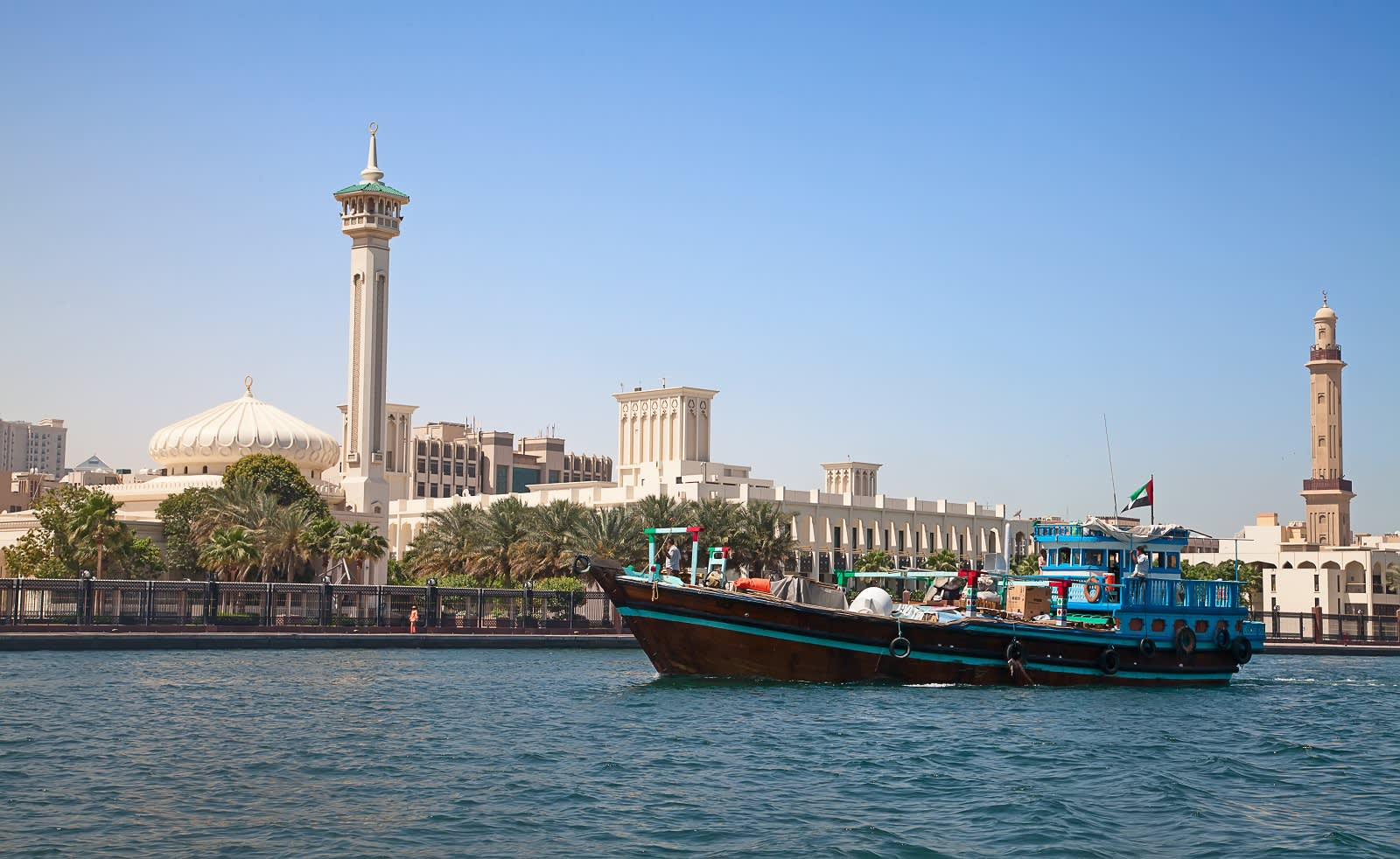 Trraditional boat on the Dubai creek