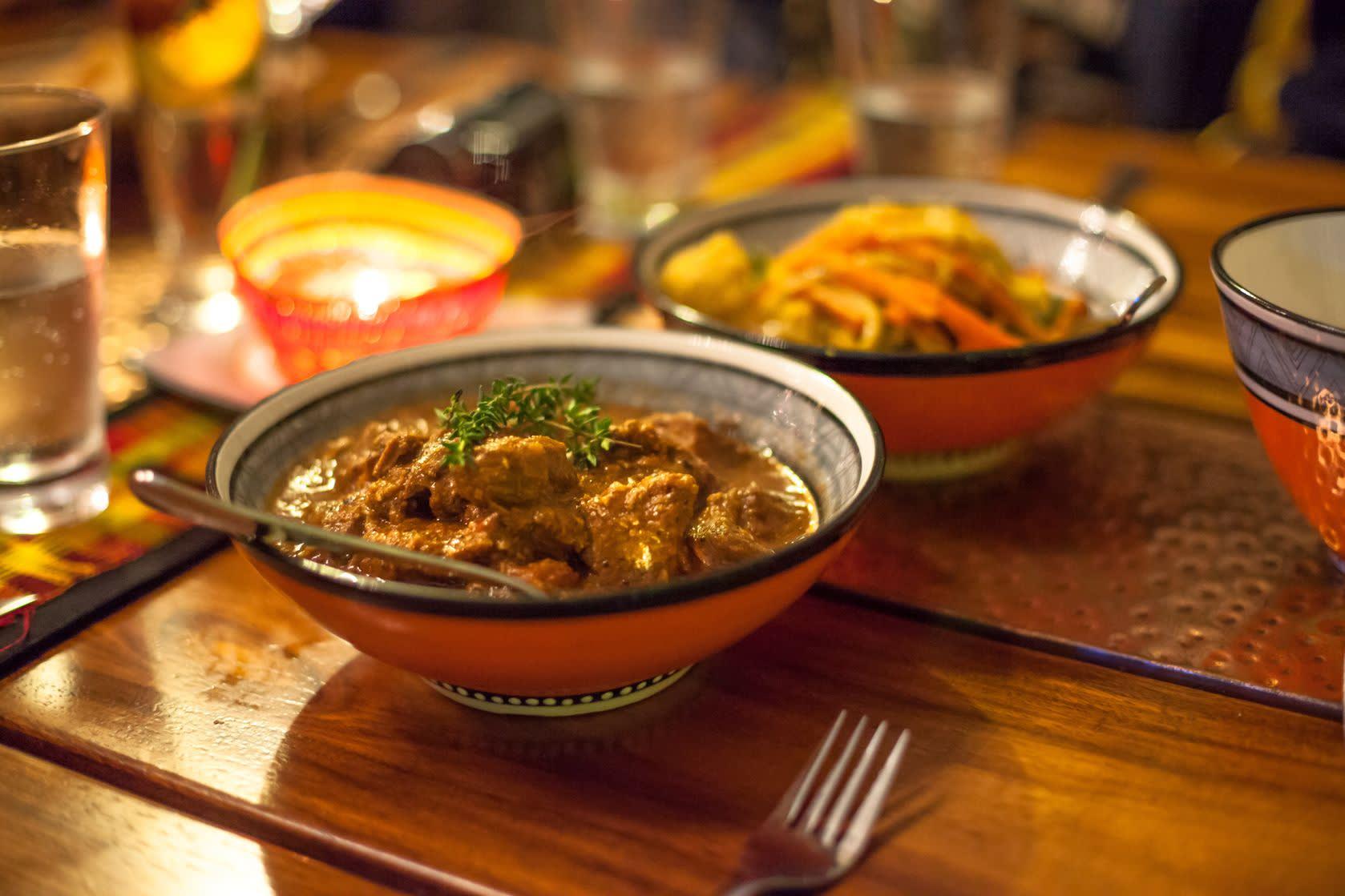 Traditionelle südafrikanische Spezialität mit Lamm