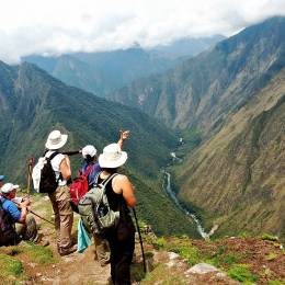 Trek up Wayna Picchu, mysterious place high in the Andes, Peru, South America