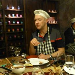 Man enjoying Argentina cuisine