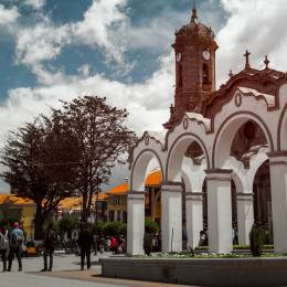 Center of the city of Potosi, Bolivia, South America
