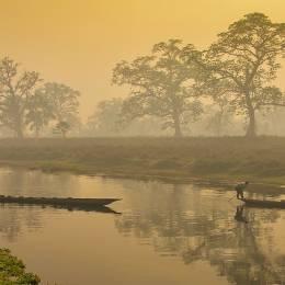 Fishermen at Chitwan National Park, Nepal