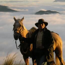 Walking with a horse in Cotopaxi, Ecuador/Galapagos
