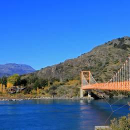 General Carrera Bridge, Bertrand Lake, Carretera Austral Chile, South America