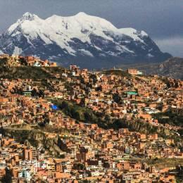 Aerial view of La Paz in Bolivia