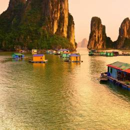 Halong Bay, Vietnam. Unesco World Heritage Site. Most popular place in Vietnam