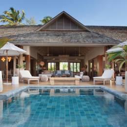 Private pool at Desroches Island Resort Hotel in Desroches Island, Seychelles