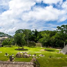 Enchanting Travels Guatemala ToursMayan Temples of Gran Plaza or Plaza Mayor at Tikal National Park