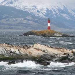 Ushuaia lighthouse, Argentina, South America
