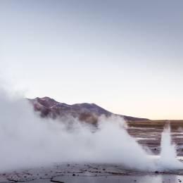 El Tatio geysers, near San Pedro de Atacama, Chile, South America
