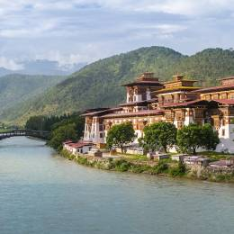 Best time to visit Asia - Punakha Dzong Monastery, one of the largest monestary in Asia, Punakha, Bhutan