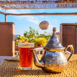 Sample Moroccan mint tea - things to do in Morocco