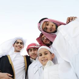 Oman travel guide - group of young people in Oman
