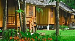Außenansicht im La Folie Lodge Hotel in Laos, Champasak