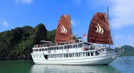 Kreuzfahrt Außenansicht Glory Legend Halong Bucht, Vietnam