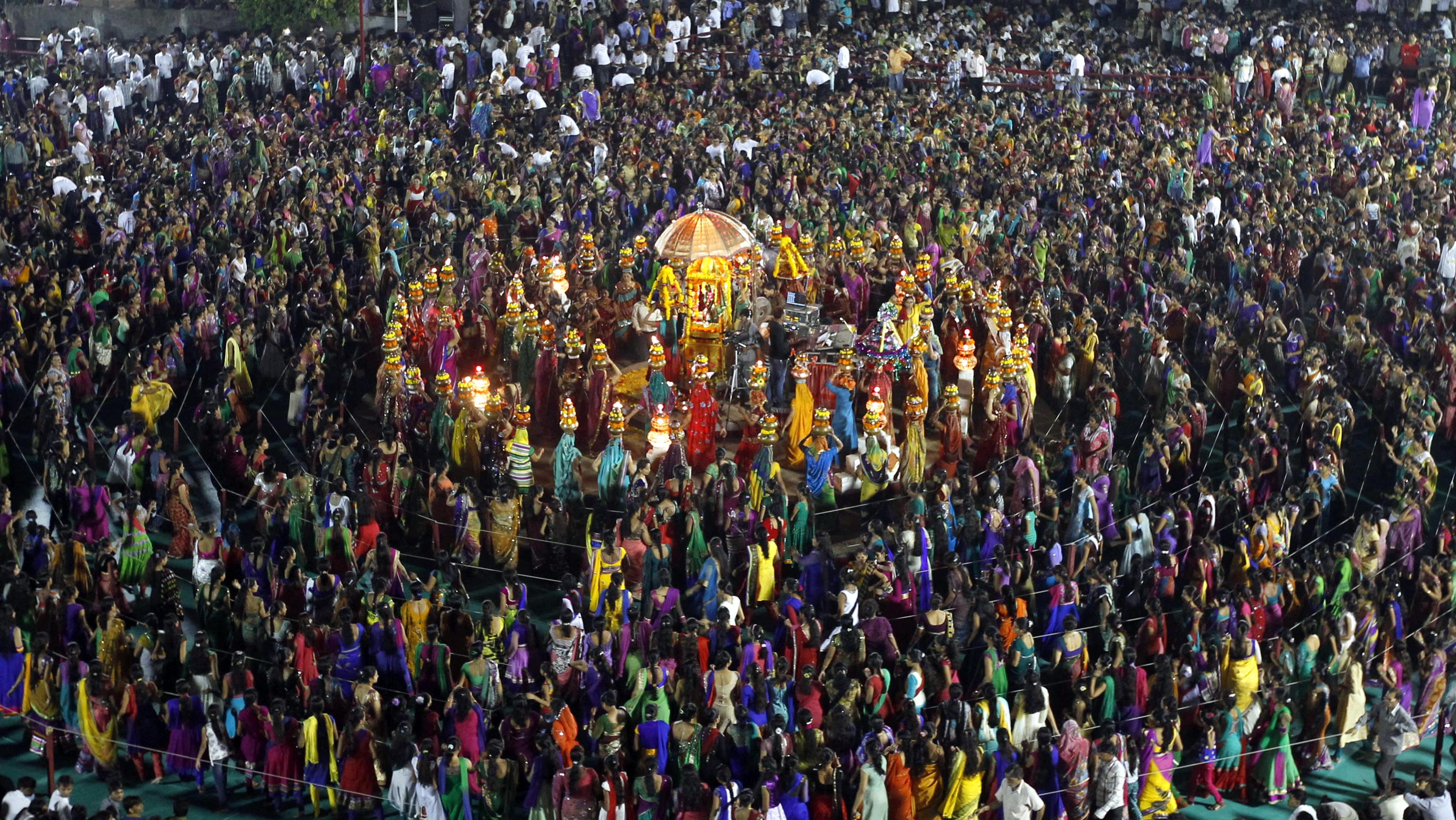 Dussehra Fest (feiert den Triumph des Guten über das Böse) in Nepal