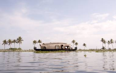 Kerala Backwaters Hausboot, Indien