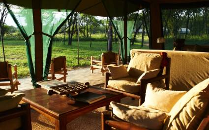 Sitting area at Dunia Camp C Serengeti (Central) in Tanzania