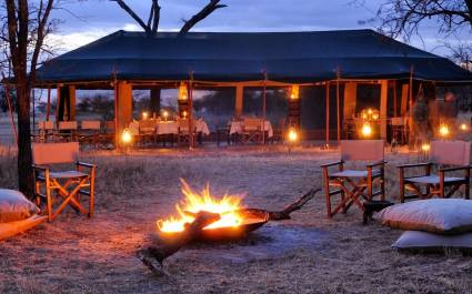 Dinner area at Olakira Migration Camp Serengeti, Tanzania